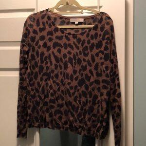 Ann Taylor Loft leopard print sweater